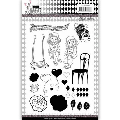 Clear Stamps - Yvonne Creations- Pretty Pierrot 2 - YCCS10047