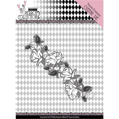 Dies - Yvonne Creations- Pretty Pierrot 2 - Rose Border - YCD10162