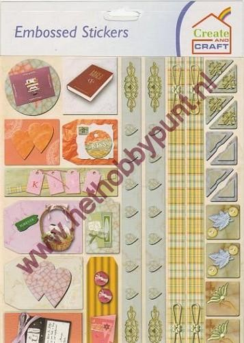 Embossed Stickers - Create & Craft - Divers