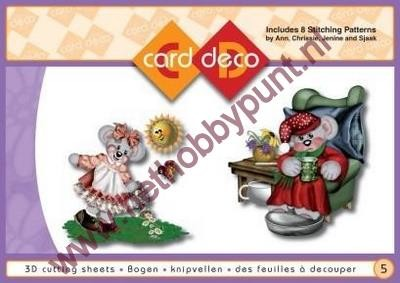 Carddeco - Borduur en Knipvellen - nummer 5 Creddy World