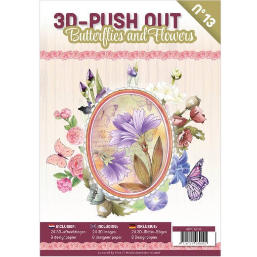 3D Pushout Book 13 Butterflies and Flowers - 3DPO1001