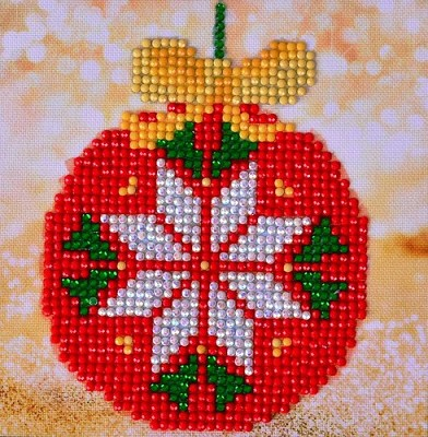 Diamand Dotz - Red Bauble Picture - DD2.021