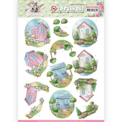 3D Pushout - Amy Design - Spring is Here - Garden Sheds - SB102334