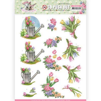 3D Pushout - Amy Design - Spring is Here - Tulips - SB10332
