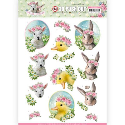3D Pushout - Amy Design - Spring is Here - Baby Animals - SB10331