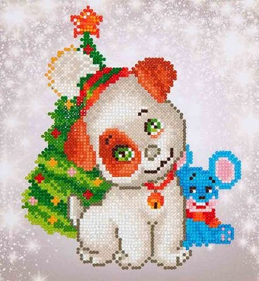 Diamand Dotz - Christmas Pup & Mouse - DD3.012