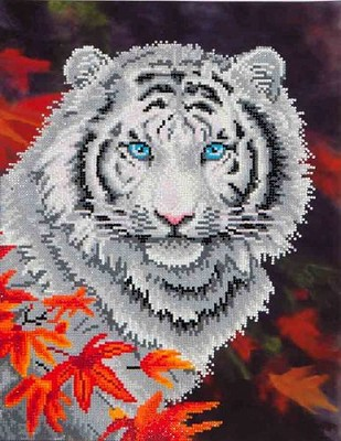 Diamond Dotz - White Tiger in Autumn - DD7.006