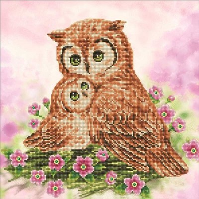Diamond Dotz - Mother & Baby Owl - DD7.004