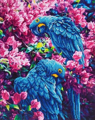 Diamond Dotz  - Blue Parrots - DD10.002