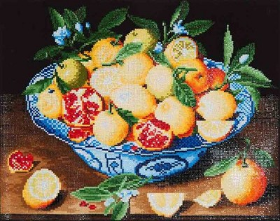 Diamond Dotz  - Still Life with Lemons, Oranges & Pomegranate (Hulzdonck) - DD10.003
