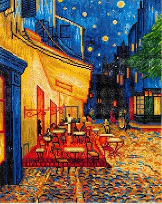 Diamond Dotz  - Caf at Night (Van Gogh) - DD10.005