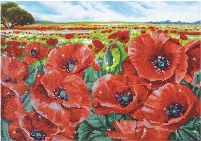Diamond Dotz  - Red Poppy Field - DD10.013