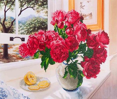 Diamond Dotz - Roses by the Window - DD12.013