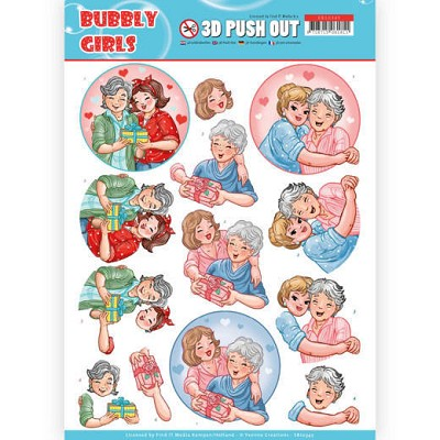 3D Pushout - Yvonne Creations- Bubbly Girls - Mothersday - SB10345