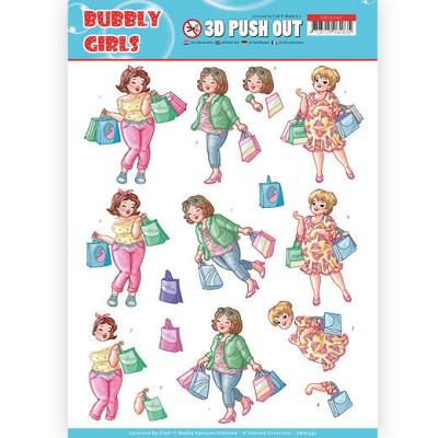3D Pushout - Yvonne Creations- Bubbly Girls - Shopping - SB10347