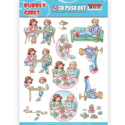3D Pushout - Yvonne Creations- Bubbly Girls - Me Time - SB10348