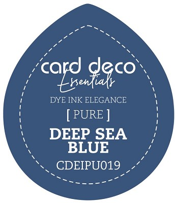 Card Deco Essentials Fade-Resistant Dye Ink - Deep Sea Blue - CDEIPU019