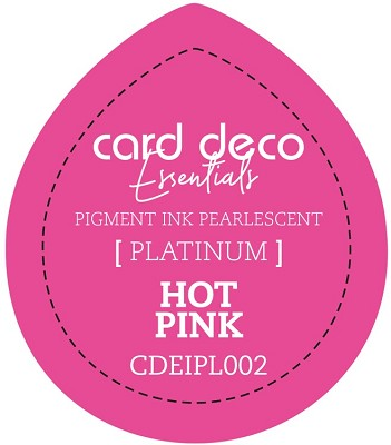 Card Deco Essentials Fast-Drying Pigment Ink Pearlescent -  Hot Pink - CDEIPL002