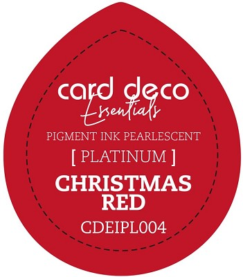 Card Deco Essentials Fast-Drying Pigment Ink Pearlescent -  Christmas Red - CDEIPL004