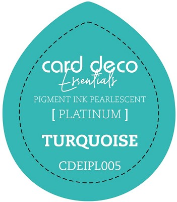 Card Deco Essentials Fast-Drying Pigment Ink Pearlescent -  Turquoise - CDEIPL005