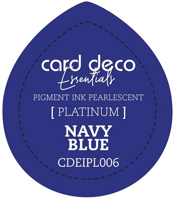 Card Deco Essentials Fast-Drying Pigment Ink Pearlescent -  Navy Blue - CDEIPL006