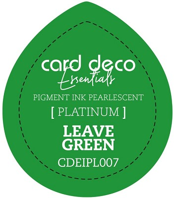 Card Deco Essentials Fast-Drying Pigment Ink Pearlescent -  Leave Green - CDEIPL007