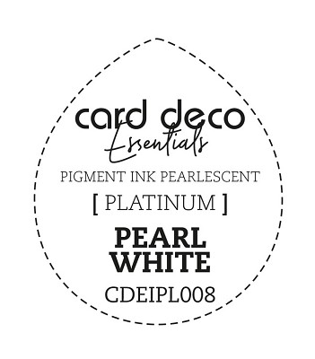 Card Deco Essentials Fast-Drying Pigment Ink Pearlescent -  Pearl White - CDEIPL008