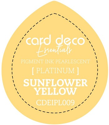 Card Deco Essentials Fast-Drying Pigment Ink Pearlescent -  Sunflower Yellow - CDEIPL009