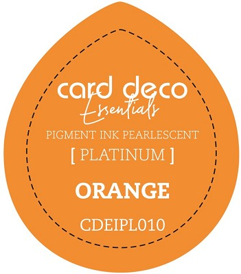 Card Deco Essentials Fast-Drying Pigment Ink Pearlescent -  Orange - CDEIPL010