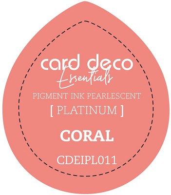 Card Deco Essentials Fast-Drying Pigment Ink Pearlescent -  Coral - CDEIPL011
