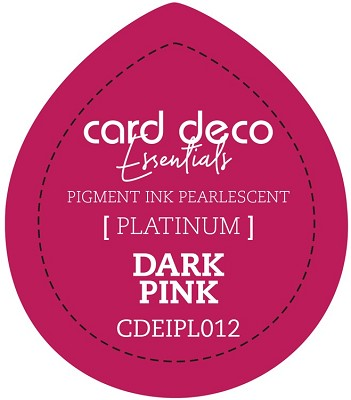Card Deco Essentials Fast-Drying Pigment Ink Pearlescent - Dark Pink - CDEIPL012