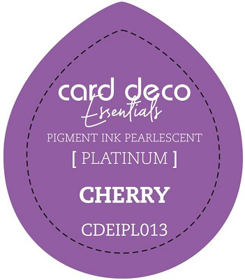 Card Deco Essentials Fast-Drying Pigment Ink Pearlescent - Cherry - CDEIPL013