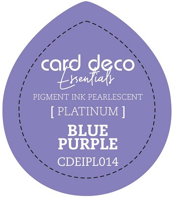 Card Deco Essentials Fast-Drying Pigment Ink Pearlescent - Blue Purple - CDEIPL014