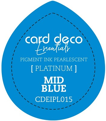 Card Deco Essentials Fast-Drying Pigment Ink Pearlescent - Mid Blue - CDEIPL015