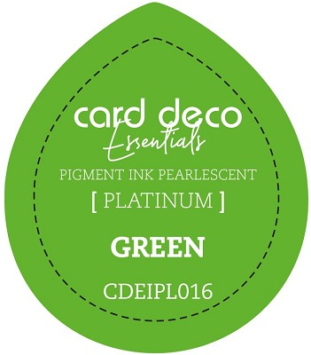 Card Deco Essentials Fast-Drying Pigment Ink Pearlescent - Green - CDEIPL016