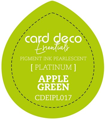 Card Deco Essentials Fast-Drying Pigment Ink Pearlescent - Apple Green - CDEIPL017