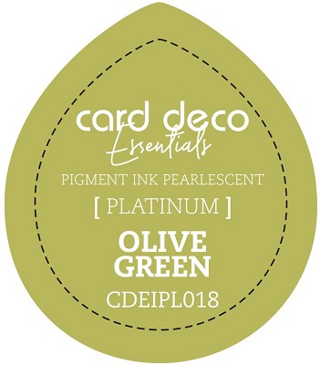 Card Deco Essentials Fast-Drying Pigment Ink Pearlescent - Olive Green - CDEIPL018