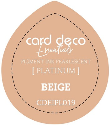Card Deco Essentials Fast-Drying Pigment Ink Pearlescent - Beige - CDEIPL019