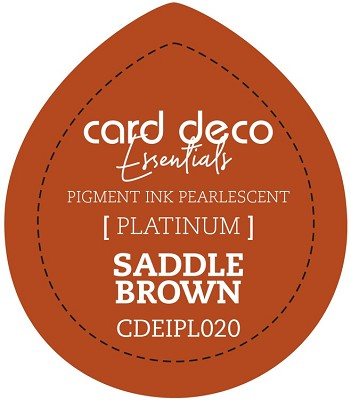 Card Deco Essentials Fast-Drying Pigment Ink Pearlescent - Saddle Brown - CDEIPL020