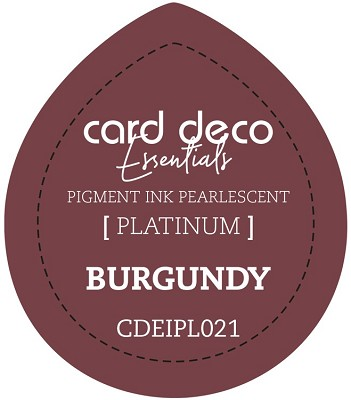 Card Deco Essentials Fast-Drying Pigment Ink Pearlescent - Burgundy - CDEIPL021