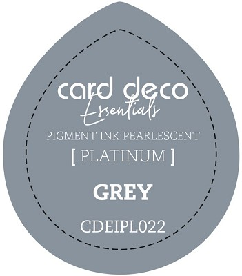 Card Deco Essentials Fast-Drying Pigment Ink Pearlescent - Grey - CDEIPL022