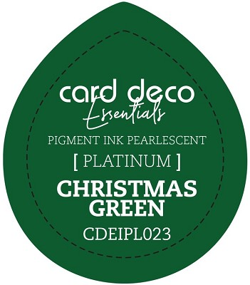 Card Deco Essentials Fast-Drying Pigment Ink Pearlescent - Christmas Green - CDEIPL023