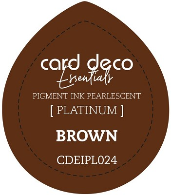Card Deco Essentials Fast-Drying Pigment Ink Pearlescent - Brown - CDEIPL024