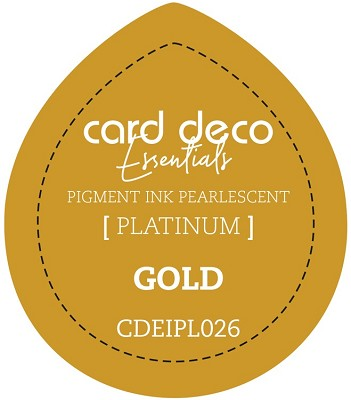 Card Deco Essentials Fast-Drying Pigment Ink Pearlescent - Gold - CDEIPL026