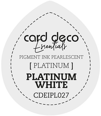 Card Deco Essentials Fast-Drying Pigment Ink Pearlescent - Platinum White - CDEIPL027