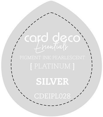 Card Deco Essentials Fast-Drying Pigment Ink Pearlescent - Silver - CDEIPL028