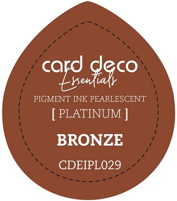 Card Deco Essentials Fast-Drying Pigment Ink Pearlescent - Bronze - CDEIPL029