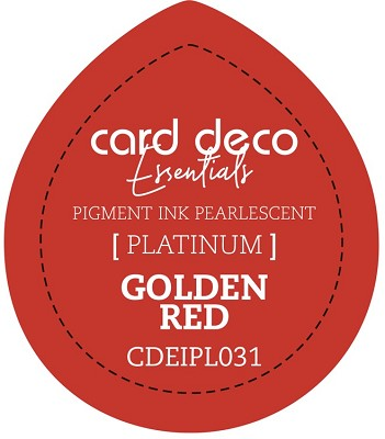 Card Deco Essentials Fast-Drying Pigment Ink Pearlescent - Golden Red - CDEIPL031
