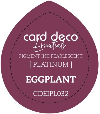 Card Deco Essentials Fast-Drying Pigment Ink Pearlescent - Eggplant - CDEIPL032