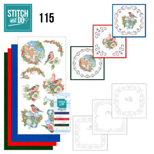 Stitch and Do 115 Christmas Birds - STDO115